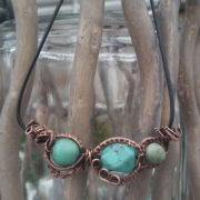 turquoise planet wire wrap